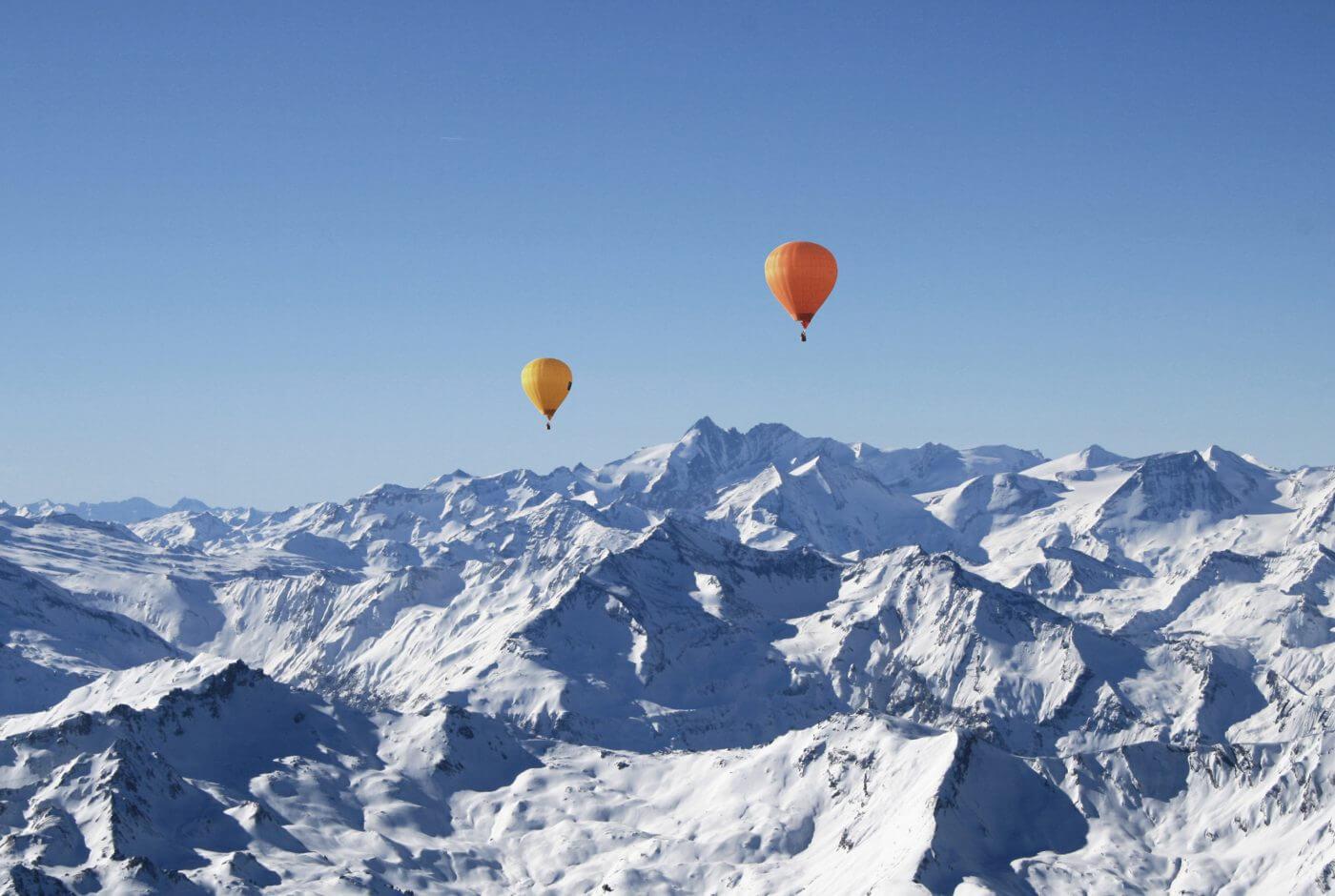 Winter, Ballon, Alpen