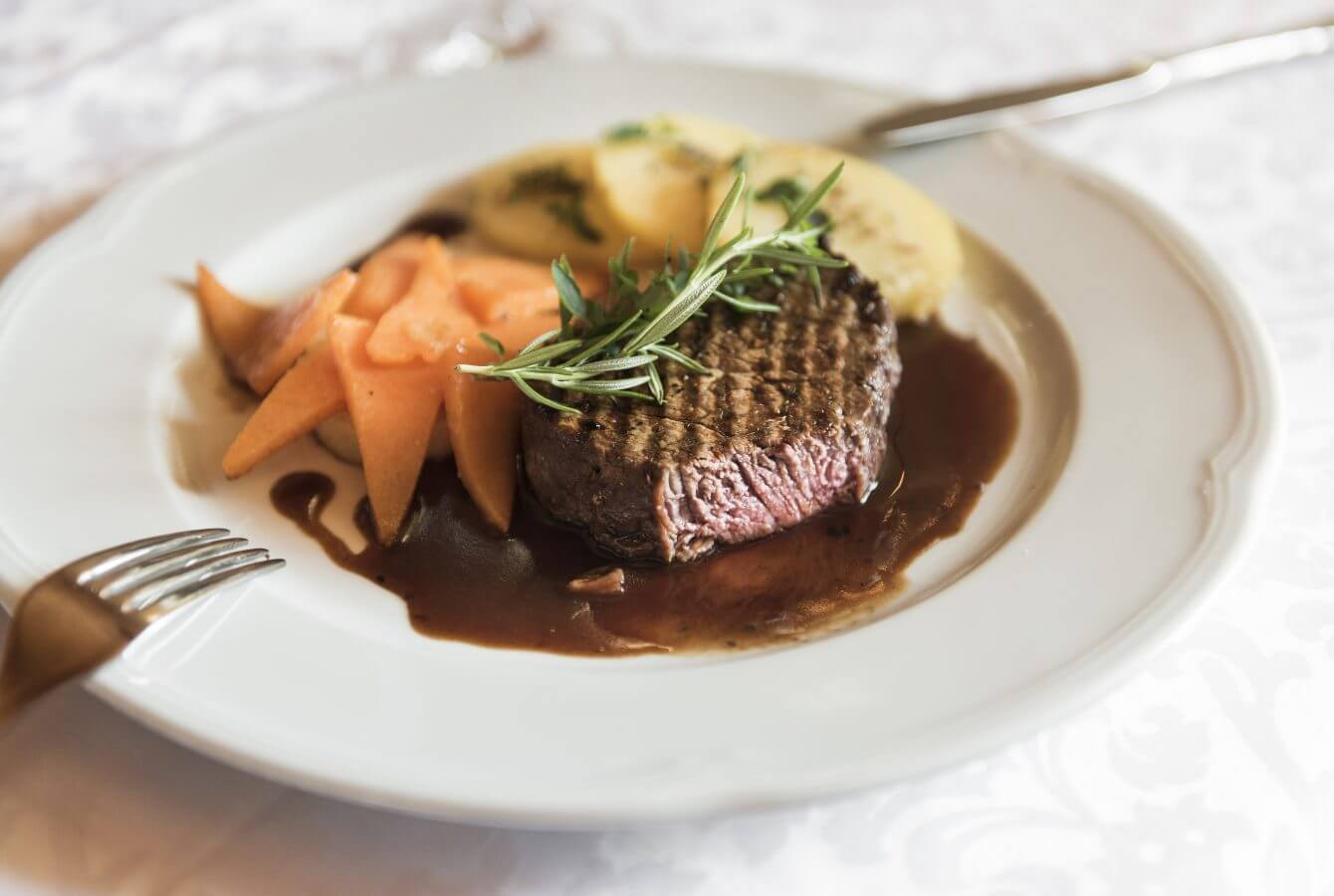 Almo Steak, Hauptspeise