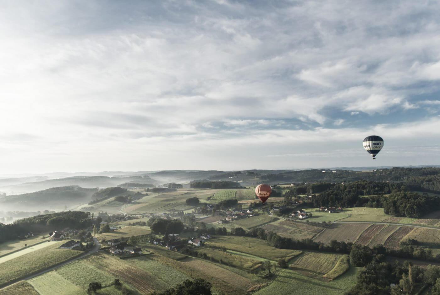 Landschaft, Ballon