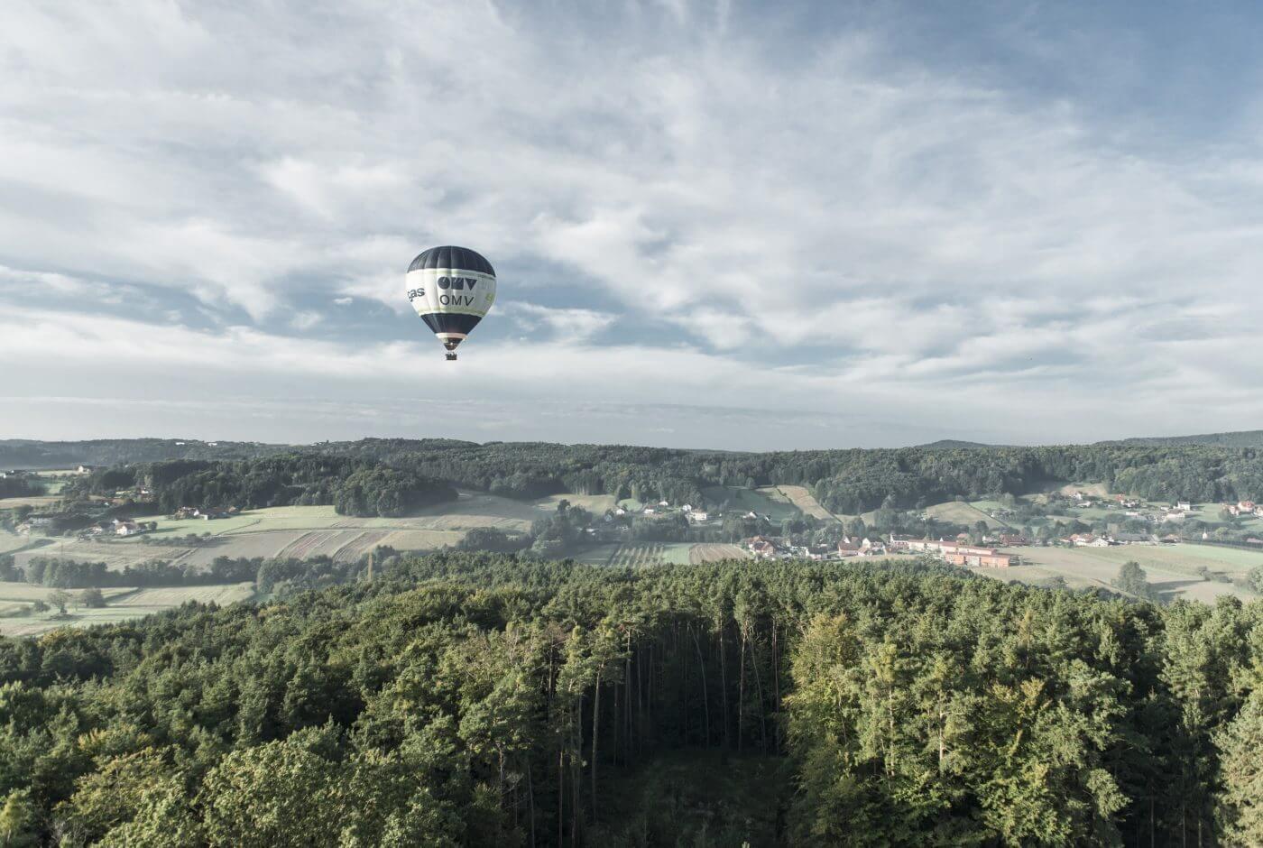 Landschaft, Ballon, Oststeiermark