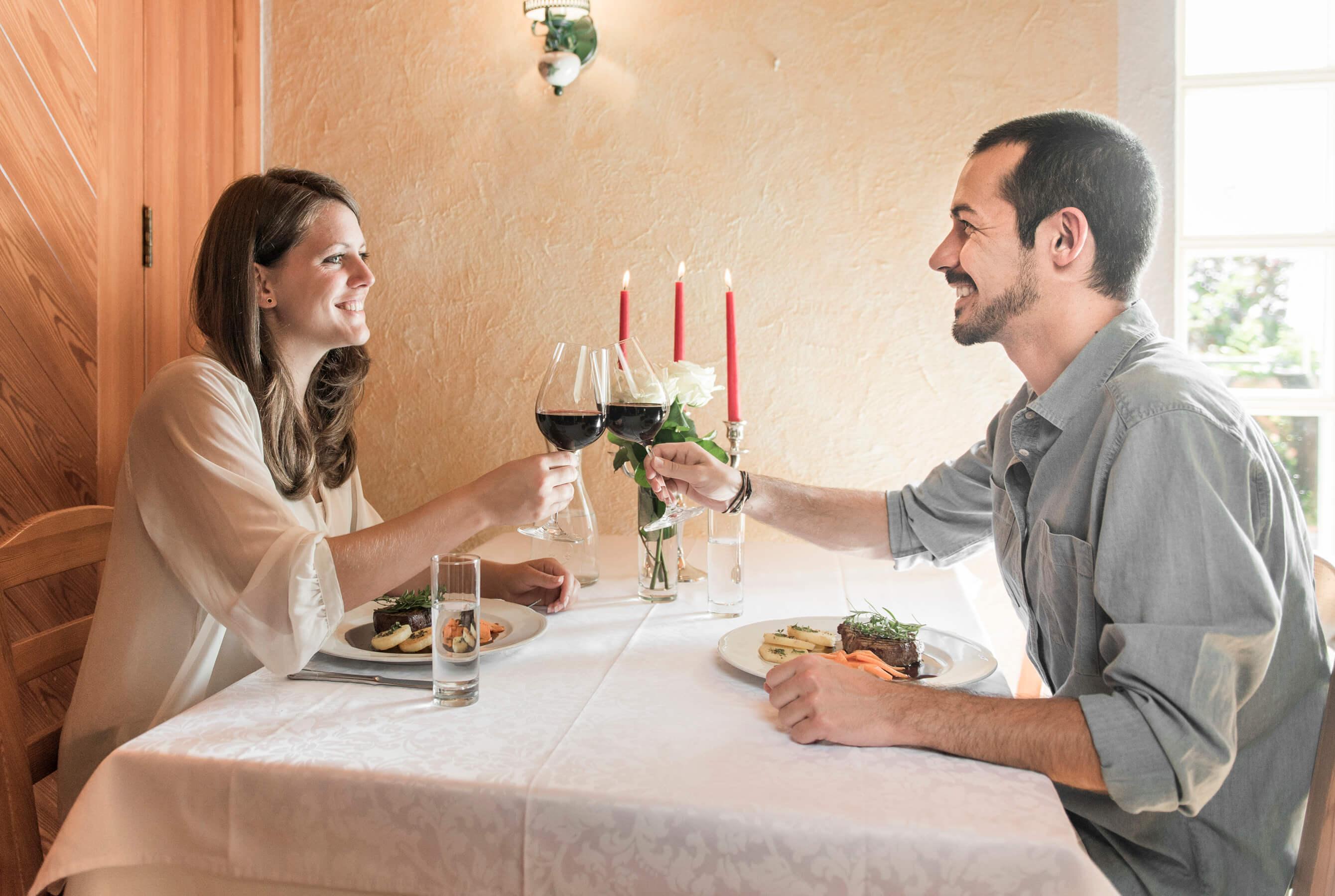 Dinner, Romantik, Paar