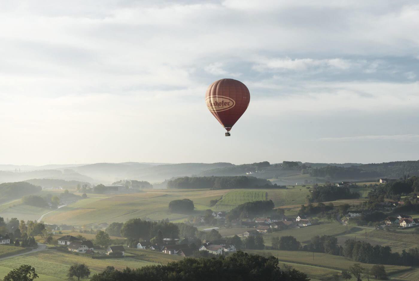 Ballon, Landschaft, Oststeiermark, Apfelland