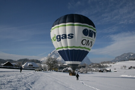 Winter Ballon Alpen
