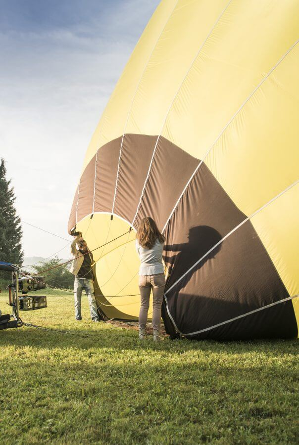 Ballon, Start, Aufbau
