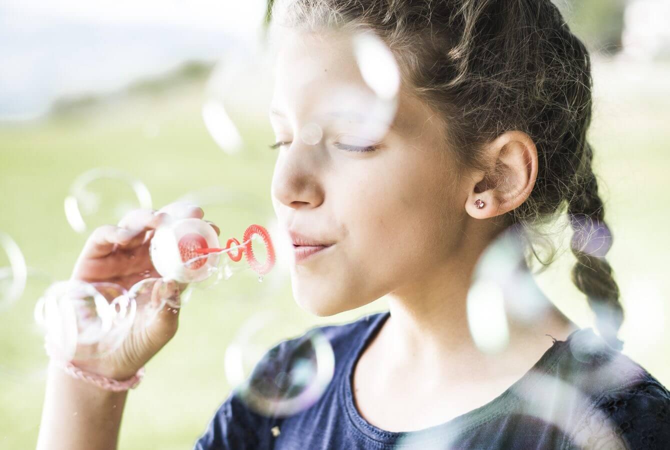 Seifenblasen, Kinder, Familie