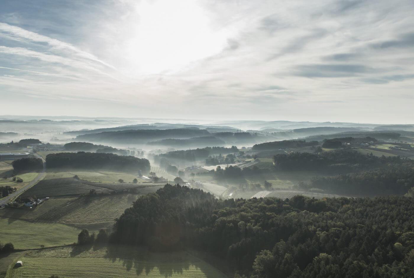 Landschaft, Luft, Oststeiermark