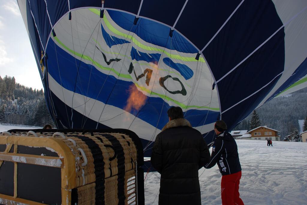 Ballon, Winter, Aufrüsten