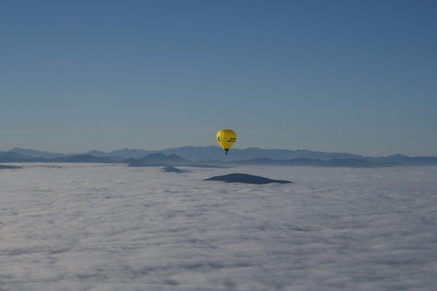 Winter Alpen Ballon