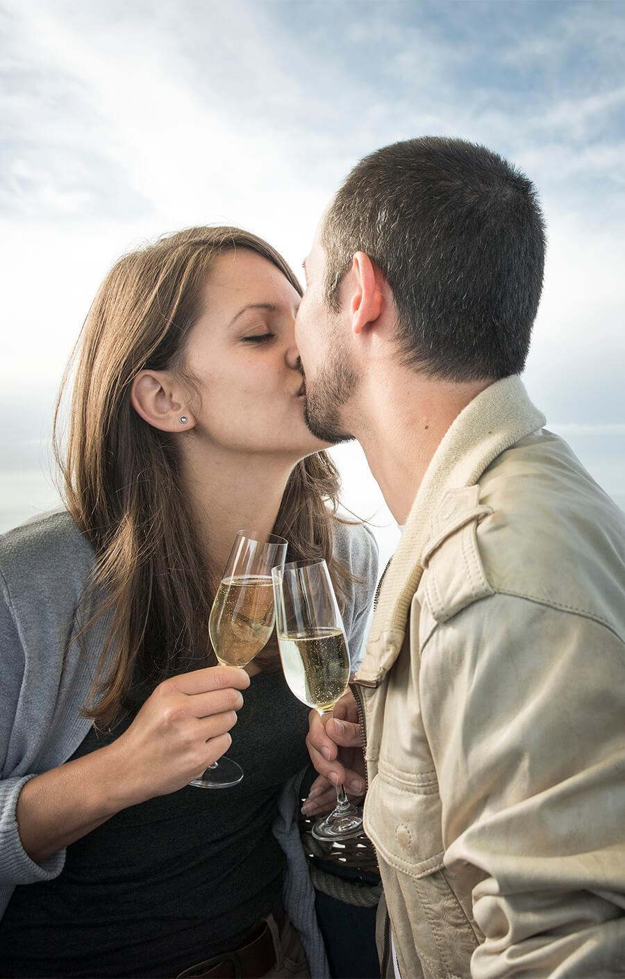 Ballonfahrt, Romantik
