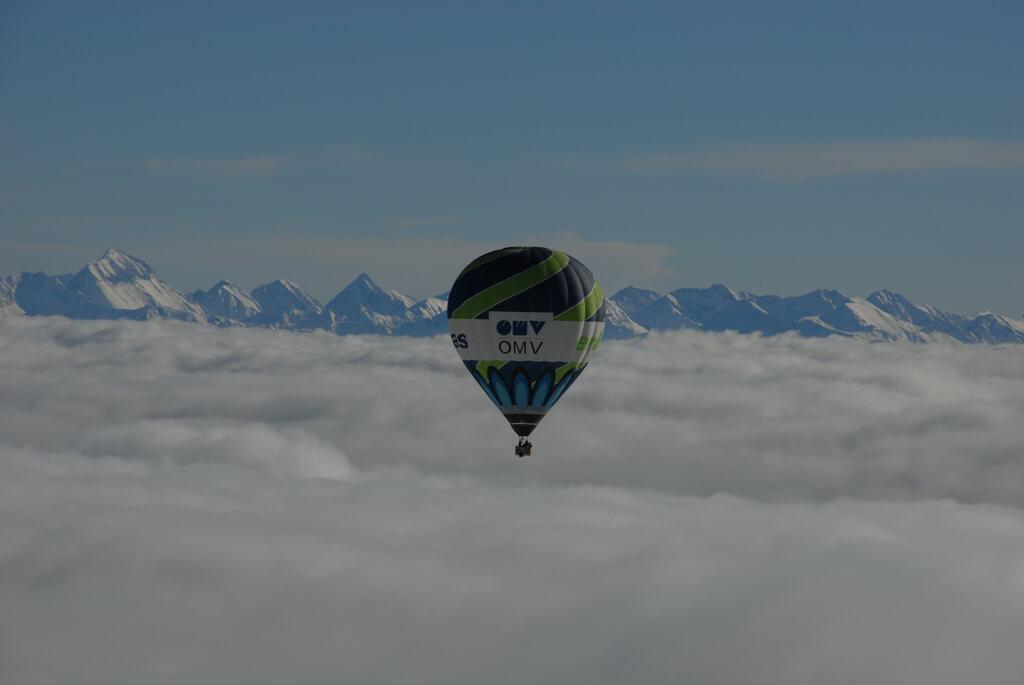 Ballon, Alpen
